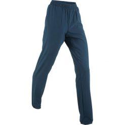 Spodnie sportowe funkcyjne, długie bonprix ciemnoniebieski. Niebieskie spodnie sportowe damskie bonprix, w paski. Za 44.99 zł.