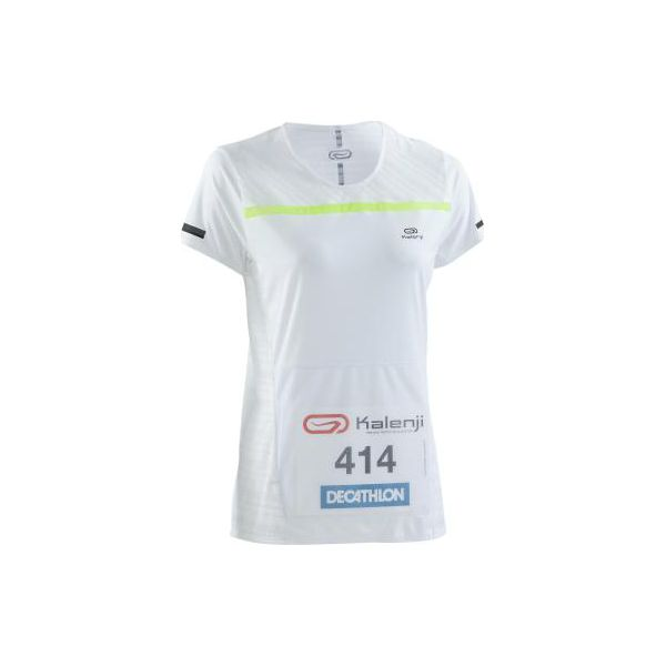 0b36626e6f8ca4 Koszulka do biegania na nr startowy Kiprun damska - Białe koszulki ...