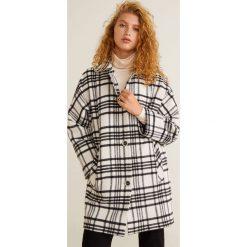 Mango - Płaszcz Quito. Szare płaszcze damskie Mango, z bawełny. Za 399.90 zł.