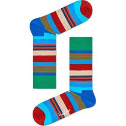 Happy Socks - Skarpety Multi Stripe. Szare skarpety męskie Happy Socks, z bawełny. W wyprzedaży za 29.90 zł.