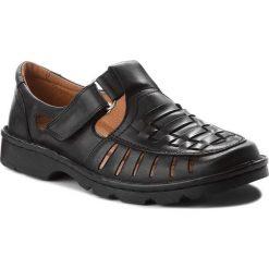 Sandały ŁUKBUT - 936 Czarny. Czarne sandały męskie Łukbut, ze skóry. W wyprzedaży za 159.00 zł.