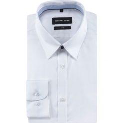 Koszula SIMONE slim KDBS000475. Białe koszule męskie Giacomo Conti, z bawełny, z klasycznym kołnierzykiem, z długim rękawem. Za 299.00 zł.