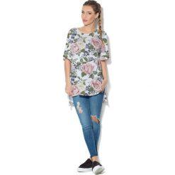 Colour Pleasure Koszulka CP-033  104 biało-zielono-pudrowy róż r. uniwersalny. Bluzki damskie marki Colour Pleasure. Za 76.57 zł.