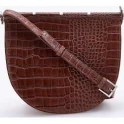 Torebka z teksturą krokodyla - Brązowy. Brązowe torebki do ręki damskie Reserved. Za 299.99 zł.