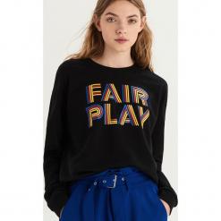 Bluza z kolorowym nadrukiem - Czarny. Czarne bluzy damskie Sinsay, w kolorowe wzory. Za 39.99 zł.