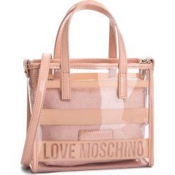 Torebka LOVE MOSCHINO - JC4309PP05KP160A  Trasp/Rosa. Czarne torebki do ręki damskie Love Moschino, z materiału. W wyprzedaży za 319.00 zł.