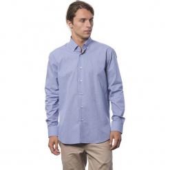 Koszula w kolorze chabrowym. Niebieskie koszule męskie Roberto Cavalli, Trussardi, w kropki, button down. W wyprzedaży za 219.95 zł.