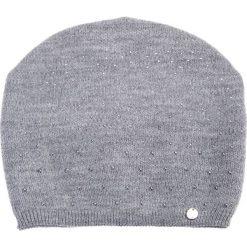 Szara czapka z dżetami QUIOSQUE. Szare czapki i kapelusze damskie QUIOSQUE, z wełny. Za 79.99 zł.