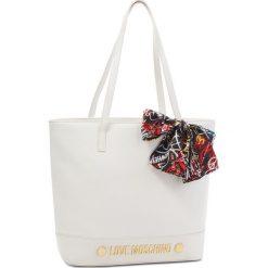 Torebka LOVE MOSCHINO - JC4125PP16LV0100 Bianco. Białe torebki do ręki damskie Love Moschino, ze skóry ekologicznej. W wyprzedaży za 639.00 zł.