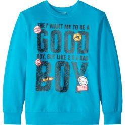 """Bluza """"college"""" bonprix turkusowy. Bluzy dla chłopców bonprix, z nadrukiem. Za 32.99 zł."""