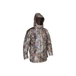 Kurtka myśliwska zimowa męska SIBIR300 KAMO-BR. Brązowe kurtki męskie SOLOGNAC, na zimę. Za 349.99 zł.