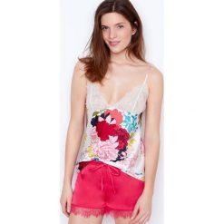 Etam - Koszulka piżamowa. Szare koszule nocne damskie Etam, z poliesteru. W wyprzedaży za 39.90 zł.