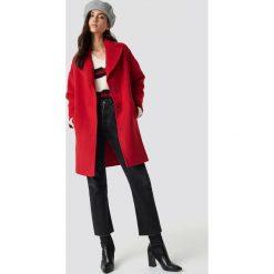 Trendyol Płaszcz Oversize Stamp - Red. Czerwone płaszcze damskie Trendyol. Za 283.95 zł.