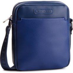 Saszetka WITTCHEN - 87-4P-504-N Granatowy. Niebieskie saszetki męskie Wittchen, ze skóry ekologicznej, młodzieżowe. W wyprzedaży za 139.00 zł.