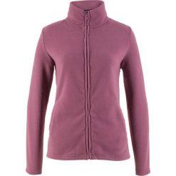 Bluza rozpinana z polaru z wpuszczanymi kieszeniami bonprix matowy jeżynowy. Fioletowe bluzy damskie bonprix, z polaru. Za 37.99 zł.