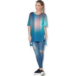 Colour Pleasure Koszulka CP-033  79 granatowo-niebieska r. uniwersalny. Bluzki damskie marki Colour Pleasure. Za 76.57 zł.