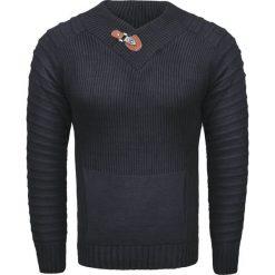 Sweter męski z kominem czarny Recea