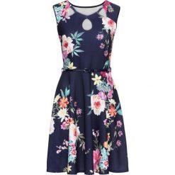 Sukienka z dżerseju w kwiaty bonprix ciemnoniebieski w kwiaty. Niebieskie sukienki damskie bonprix, w kwiaty, z dżerseju. Za 119.99 zł.