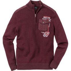 Sweter ze stójką bonprix czerwony klonowy. Swetry przez głowę męskie marki Giacomo Conti. Za 54.99 zł.
