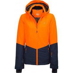 Kurtka narciarska damska KUDN620 - pomarańcz neon - Outhorn. Czarne kurtki damskie Outhorn, z meshu. Za 349.99 zł.