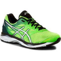 Buty ASICS - Gel-Cumulus 18 T6C3N Green Gecko/Silver/Safety Yellow. Zielone buty sportowe męskie Asics, z materiału. W wyprzedaży za 359.00 zł.