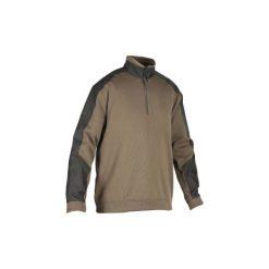 Sweter SGSW500DWD H DIG. Brązowe swetry przez głowę męskie SOLOGNAC. Za 99.99 zł.