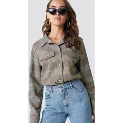 NA-KD Trend Krótka kurtka w kratkę - Brown,Beige. Brązowe kurtki damskie NA-KD Trend, w kratkę. Za 242.95 zł.