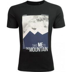 T-shirt męski TSM626 - głęboka czerń - Outhorn. Czarne t-shirty męskie Outhorn, z bawełny. Za 39.99 zł.