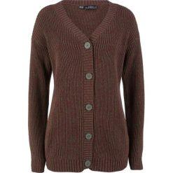 Sweter rozpinany melanżowy bonprix ciemnooliwkowy melanż. Zielone kardigany damskie bonprix, melanż. Za 74.99 zł.