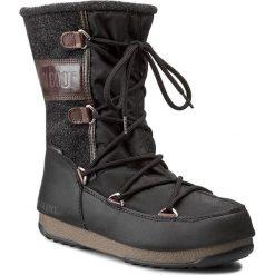 Śniegowce MOON BOOT - Vienna Felt 24004400002  Nero/Black/Dark Brow. Czarne kozaki damskie Moon Boot, z materiału. Za 649.00 zł.