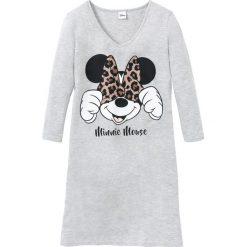 """Koszula nocna """"Myszka Minnie"""" bonprix jasnoszary melanż z nadrukiem. Szare koszule nocne damskie bonprix, melanż. Za 54.99 zł."""