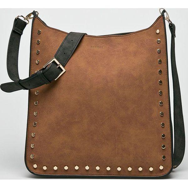 46a2261690c80 Medicine - Torebka Basic - Brązowe torby na ramię damskie marki ...