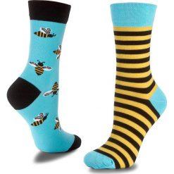 Skarpety Wysokie Unisex MANY MORNINGS - Bee Bee Kolorowy. Skarpety męskie Many Mornings, w kolorowe wzory, z bawełny. Za 29.00 zł.