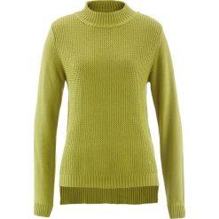 Sweter ze stójką i strukturalnym wzorem bonprix zielony kaktus. Swetry damskie marki KALENJI. Za 69.99 zł.