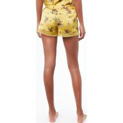 Etam - Szorty piżamowe Blossom. Szare piżamy damskie Etam, z materiału. W wyprzedaży za 59.90 zł.