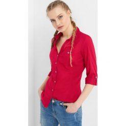 Bawełniana koszula z rękawem 3/4. Czerwone koszule damskie Orsay, z bawełny. Za 69.99 zł.
