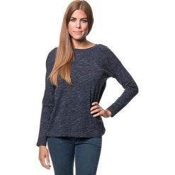Koszulka w kolorze granatowym. Bluzki damskie Benetton, z bawełny, z okrągłym kołnierzem, z długim rękawem. W wyprzedaży za 43.95 zł.