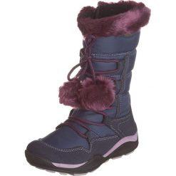Skórzane kozaki zimowe w kolorze granatowym. Buty zimowe dziewczęce Zimowe obuwie dla dzieci. W wyprzedaży za 142.95 zł.