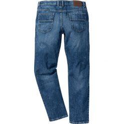 Dżinsy z wzmocnionym krokiem STRAIGHT bonprix niebieski. Jeansy męskie marki bonprix. Za 129.99 zł.