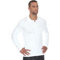 Brubeck Koszulka męska polo Prestige z długim rękawem biała r. XL (LS10620). Koszulki sportowe męskie Brubeck, z długim rękawem. Za 215.89 zł.