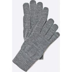 Wrangler - Rękawiczki. Szare rękawiczki męskie Wrangler, z dzianiny. W wyprzedaży za 59.90 zł.