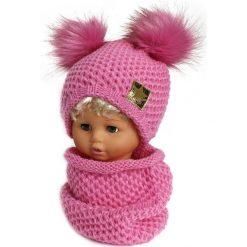 Czapka dziecięca z kominkiem CZ+K 173G. Różowe czapki dla dzieci Proman. Za 61.61 zł.