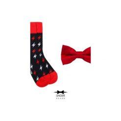 Red Thunder Zestaw Muszka i skarpetka. Czerwone krawaty i muchy Underbeard, z bawełny. Za 110.00 zł.