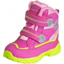 """Zimowe botki """"Kibbi"""" w kolorze różowo-jasnozielonym. Botki dziewczęce marki Born2be. W wyprzedaży za 152.95 zł."""