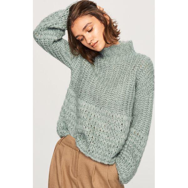 0db7be0236581d Sweter z domieszką wełny - Turkusowy - Swetry damskie Reserved. W ...