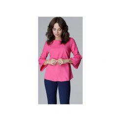 Bluzka L010 Fuksja. Czerwone bluzki damskie Lenitif, eleganckie, z falbankami. Za 119.00 zł.