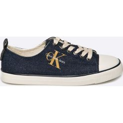 Calvin Klein Jeans - Tenisówki Donata. Szare trampki i tenisówki damskie Calvin Klein Jeans, z jeansu. W wyprzedaży za 269.90 zł.
