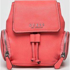 Guess Jeans - Plecak. Różowe plecaki damskie Guess Jeans, z jeansu. W wyprzedaży za 479.90 zł.