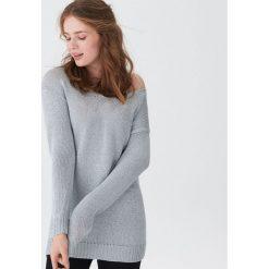 Sweter o metalicznym połysku - Srebrny. Szare swetry damskie House. Za 89.99 zł.