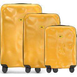 Walizki Icon w zestawie 3 el. matowy żółty. Walizki męskie Crash Baggage, z materiału. Za 2,628.00 zł.